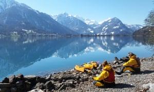 Winter kayaking, Interlaken