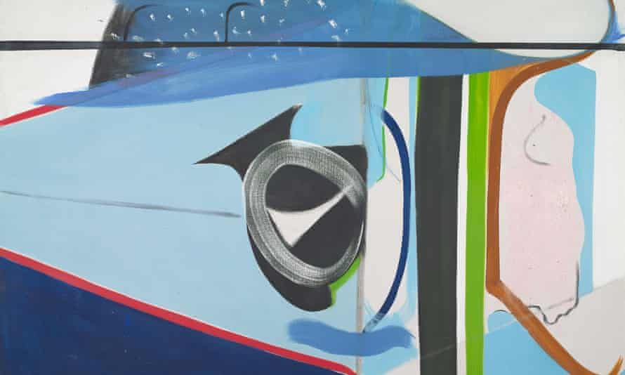 A detail from Peter Lanyon's Clevedon Bandstand, oil on canvas, 1964.