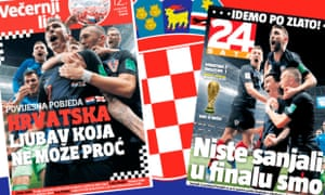 Vecerni list said Croatia play the best football on the planet at the moment, while 24 sata added: 'You aren't dreaming, this is reality.'