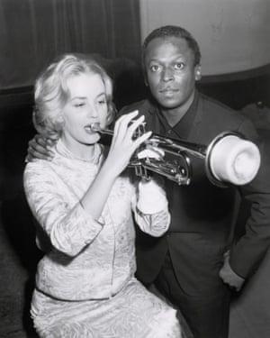Jeanne Moreau and Miles Davis in Paris in 1957