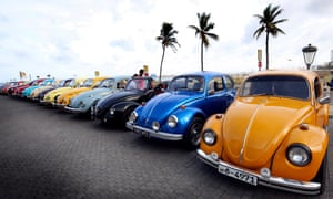 Classic by design … a Volkswagen Beetles rally in Sri Lanka.