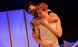 'Doubly chilling': Max Rinehart and Guy Warren-Thomas in Kompromat.