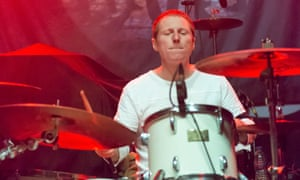 Craig Gill … On stage with the Inspiral Carpets last year