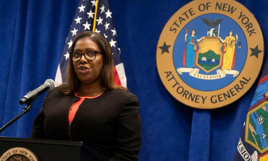 New York attorney general Letitia James announces her legal bid to dissolve the NRA.