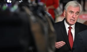 Brexit: McDonnell says Labour would introduce 32-hour working week within decade – live news