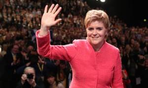 Nicola Sturgeon at the SNP conference.