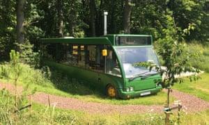 THE BUS STOP Rustic Bus exterior / The Bus Stop, Gifford, Near Edinburgh