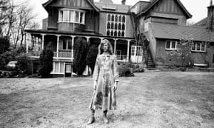 David Bowie at his home, Haddon Hall, at Beckenham, in April 1971.