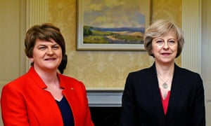 Arlene Foster (left) and Theresa May