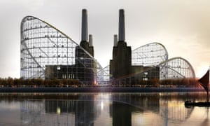 Atelier Zündel Cristea (AZC) imagines a future Battersea Power Station that's both a museum of architecture and a giant rollercoaster