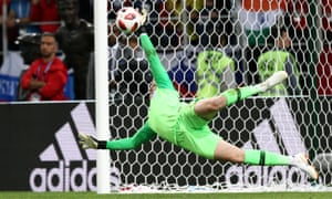 Jordan Pickford saves Carlos Bacca's penalty as England defeated Colombia on penalties.