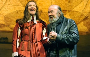 With his daughter, Rebbecca Hall, who starred in Twelfth Night at the National theatre in 2011