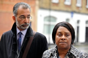 Doreen Lawrence with leading lawyer Imran Khan.