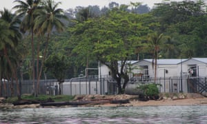 The Australian-run asylum seeker detention centre on Los Negros island, Manus province.