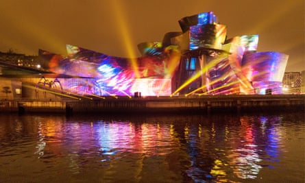 London-based artists 59 Productions have previously used Bilbao's Guggenheim museum as its canvas.