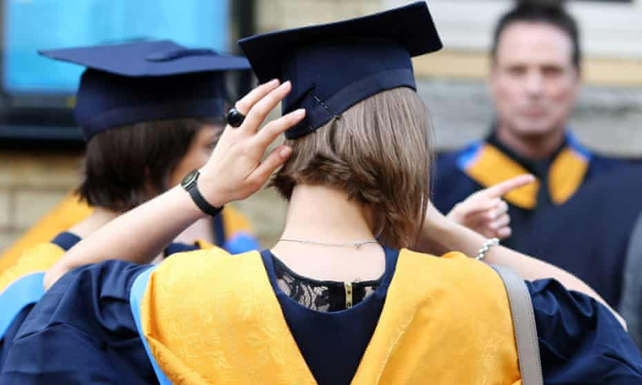 Back of graduate's head