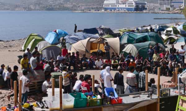 Thousand of migrants are still stranded on Greek islands.