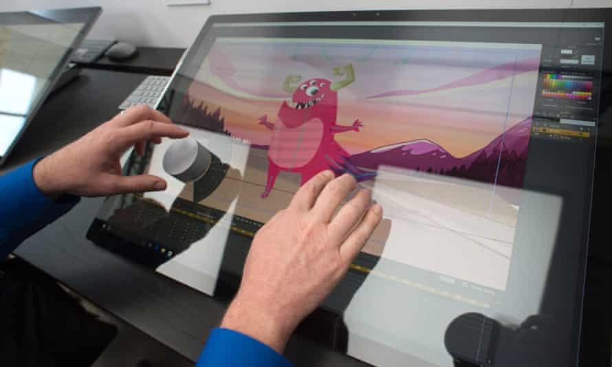 Microsoft Surface Studio in use
