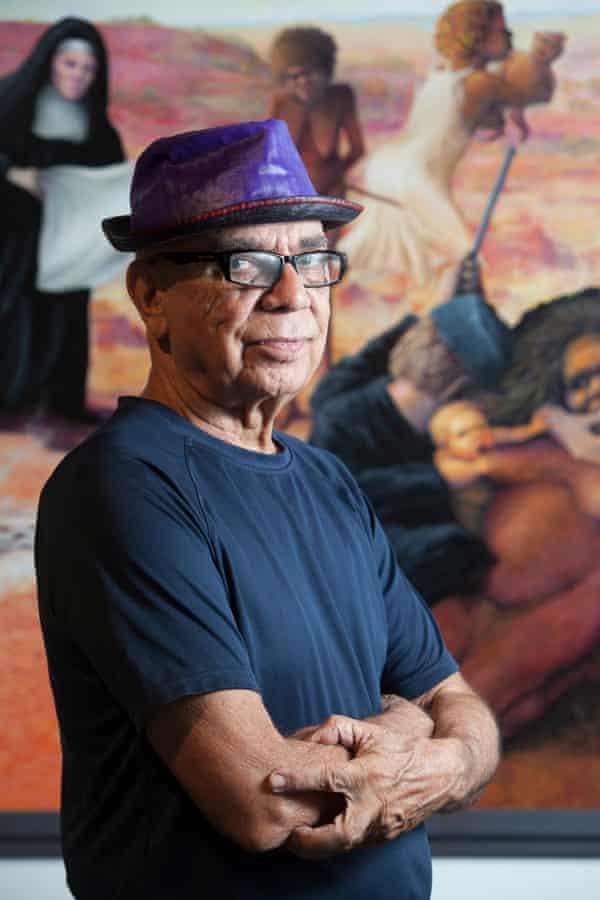 Luritja artist Harold Thomas, creator of the Aboriginal flag