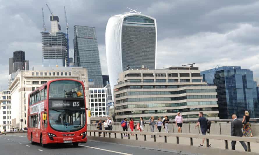 Bus on London Bridge