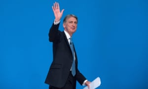 Philip Hammond delivers his speech at this year's Conservative party conference.
