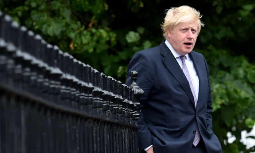 Boris Johnson outside his home