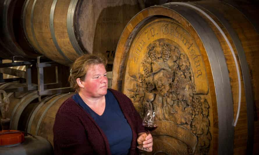 Tanja Lingen at the family's winery which dates back to the 16th century, in Bad Neuenahr.