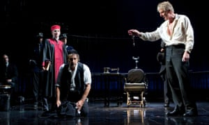 The Merchant of Venice at the Broadhurst theatre in New York, late 2010-early 2011, starring Al Pacino as Shylock (centre)
