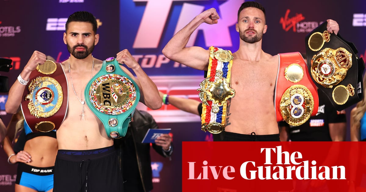 José Ramírez v Josh Taylor: Undisputed light welterweight championship – live!