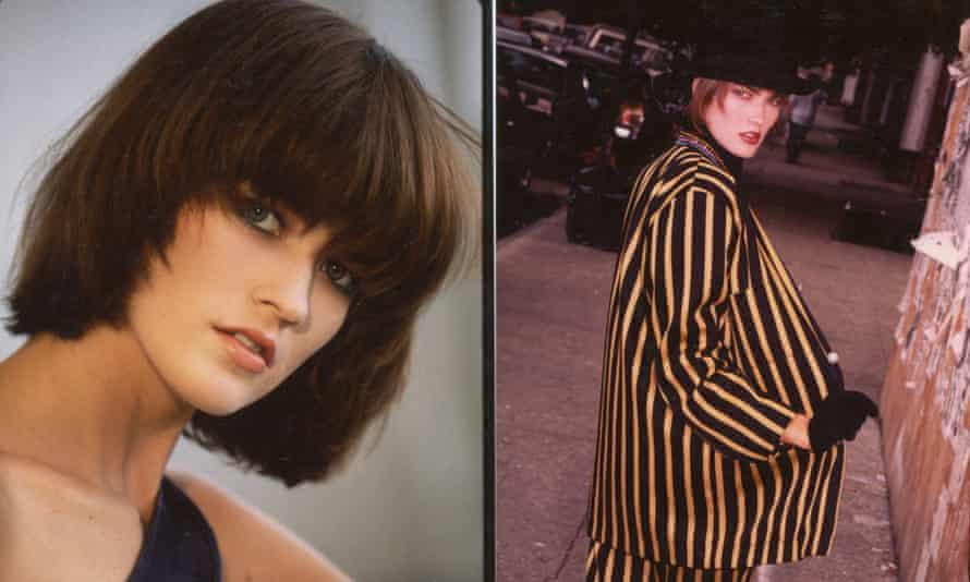 Emily Mott modelling in 1985.