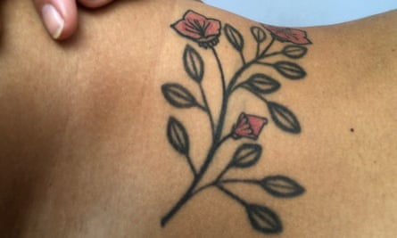 'A flower that celebrates my fertility' ... a tattoo belonging to a woman called Vanessa.