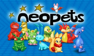 Some of the creatures you can own as pets in Neopets.
