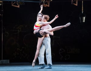 Danced with valiant conviction … Cuthbertson with Edward Watson in The Judas Tree.