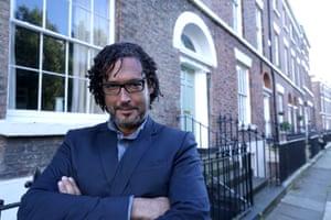 Historian David Olusoga, presenter of A House Through Time, outside 62 Falkner Street, Liverpool.
