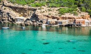 Cala Benirras and its bay, Ibiza.