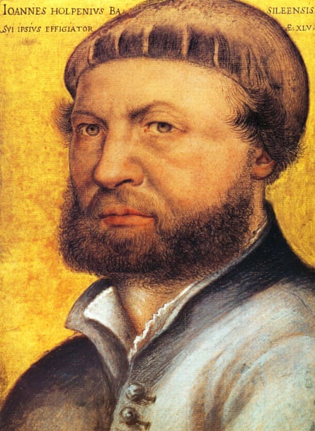 Part of a lost London-German community ... a self-portrait by Holbein.