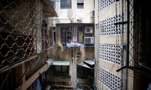 Exterior of the home of Indonesian migrant worker Roy Wardha, Macau