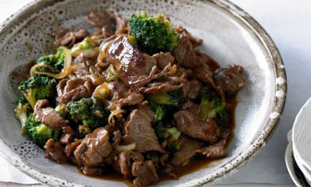 Beef and broccoli with oyster sauce.