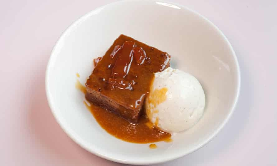 'One for the adults in the room': steamed ginger pudding.