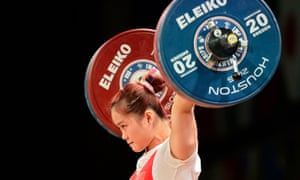 Deng Wei, left, is one of China's favourites for weightlifting gold at next year's Olympics.