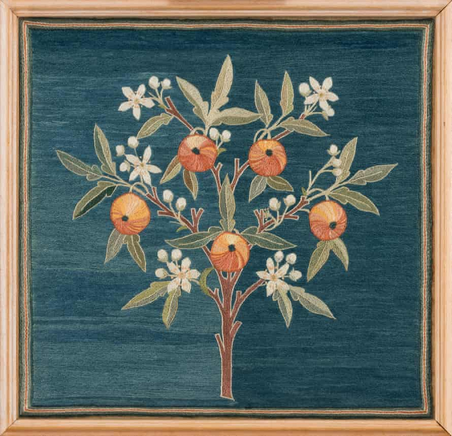 May Morris's embroidery was inspired by nature.