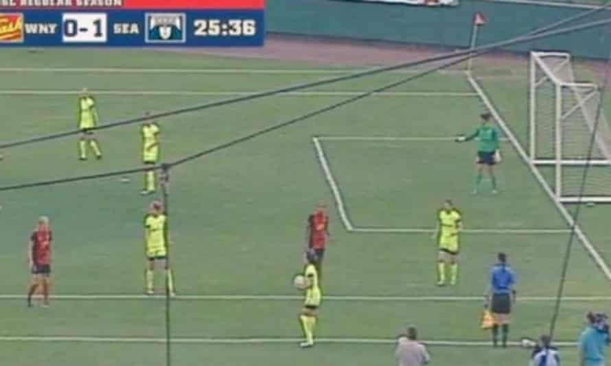 Western New York v Seattle Reign was played on an unusually small pitch because the team's usual stadium was being used for a concert.