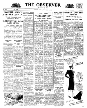1 November 1942. After 151 years, news finally replaces advertisements on the front page – and new editor David Astor announces his policy for the paper.