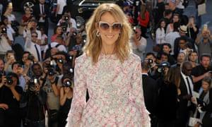 Céline Dion attends the Giambattista Valli Haute couture autumn/winter 2017-2018 show, at haute couture Paris fashion week.
