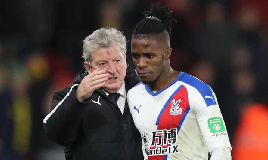 Wilfried Zaha's price has been set at £80m by Crystal Palace but Roy Hodgson is more interested in buying than selling in January.