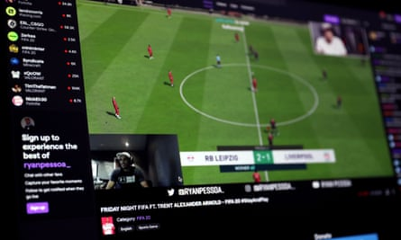 Trent Alexander-Arnold v esports player Ryan Pessoastreamed via Twitch TV on 3 April.