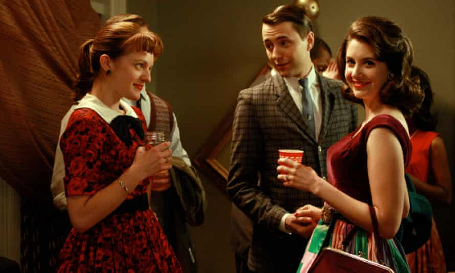 Elisabeth Moss, Vincent Kartheiser and Alison Brie, in a scene from Mad Men
