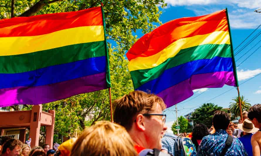A march in favour of marriage equality in Melbourne