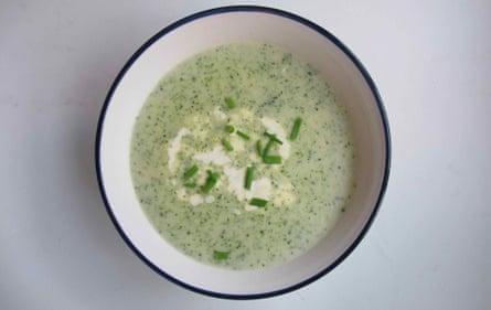 Sally Abé broccoli and stilton soup