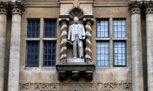 The statue of Cecil Rhodes at Oriel College in Oxford has been a focus of debate around heritage, history and free speech.
